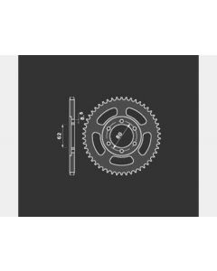 [PBR] Звезда задняя (ведомая) 51 зубьев 842 51 C45