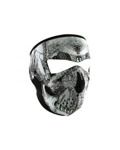 [ZAN] Маска Black And White Skull Face, Светящаяся